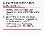 blanket purchase order requirements162