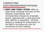 conducting discussions negotiations80