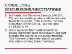 conducting discussions negotiations81