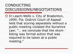 conducting discussions negotiations82