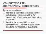 conducting pre bid proposal conferences29