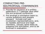 conducting pre bid proposal conferences30