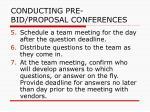 conducting pre bid proposal conferences31