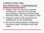 conducting pre bid proposal conferences32