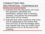 conducting pre bid proposal conferences34