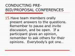 conducting pre bid proposal conferences35