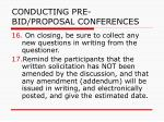 conducting pre bid proposal conferences36