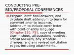 conducting pre bid proposal conferences37