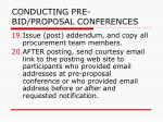 conducting pre bid proposal conferences38