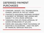 deferred payment purchases153