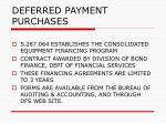 deferred payment purchases155