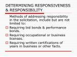 determining responsiveness responsibility102
