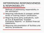 determining responsiveness responsibility103