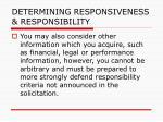determining responsiveness responsibility104