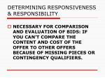 determining responsiveness responsibility95