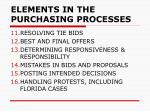 elements in the purchasing processes4