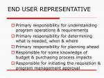 end user representative