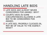 handling late bids56