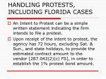 handling protests including florida cases