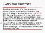 handling protests125