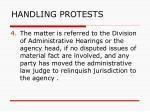 handling protests127