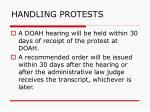 handling protests129