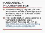 maintaining a procurement file135