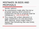 mistakes in bids and proposals108