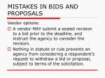 mistakes in bids and proposals109