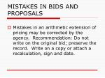 mistakes in bids and proposals111