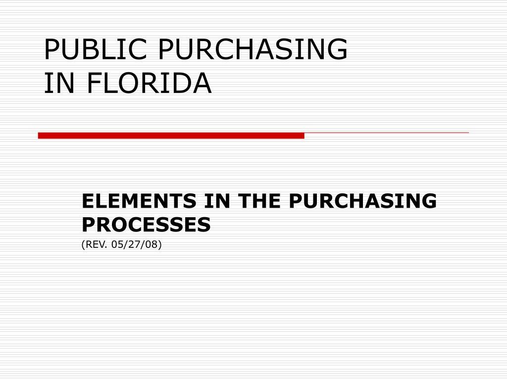 public purchasing in florida l.