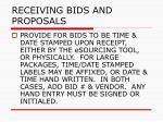 receiving bids and proposals51