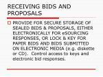 receiving bids and proposals52
