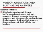 vendor questions and purchasing answers24