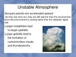 unstable atmosphere