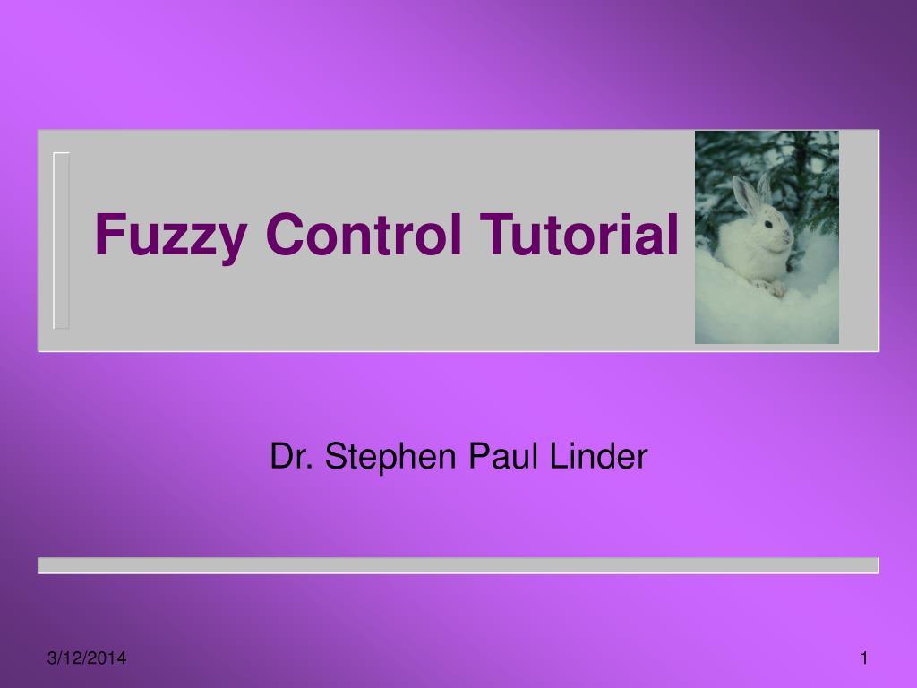 fuzzy control tutorial l.