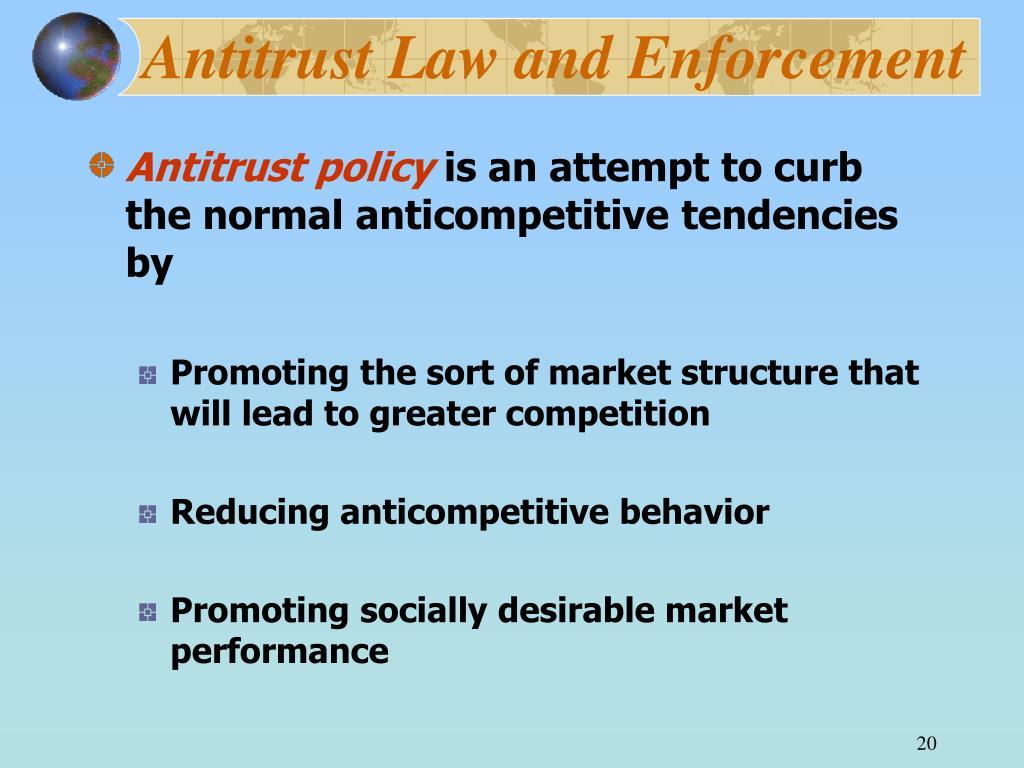 Antitrust Law and Enforcement