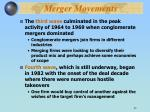 merger movements37