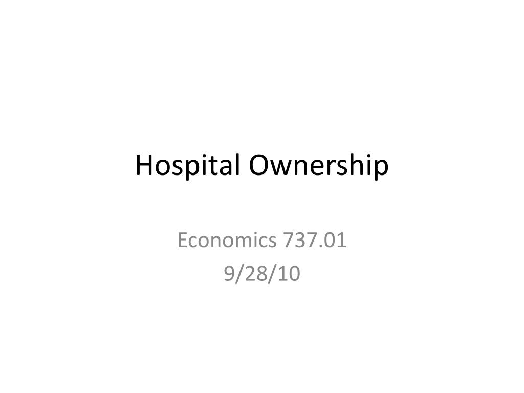 hospital ownership l.