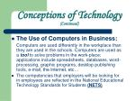 conceptions of technology continued