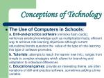 conceptions of technology