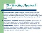 the ten step approach continued8