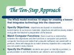 the ten step approach
