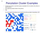 percolation cluster examples