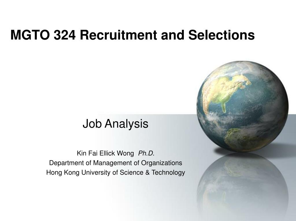 mgto 324 recruitment and selections l.