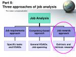part ii three approaches of job analysis22