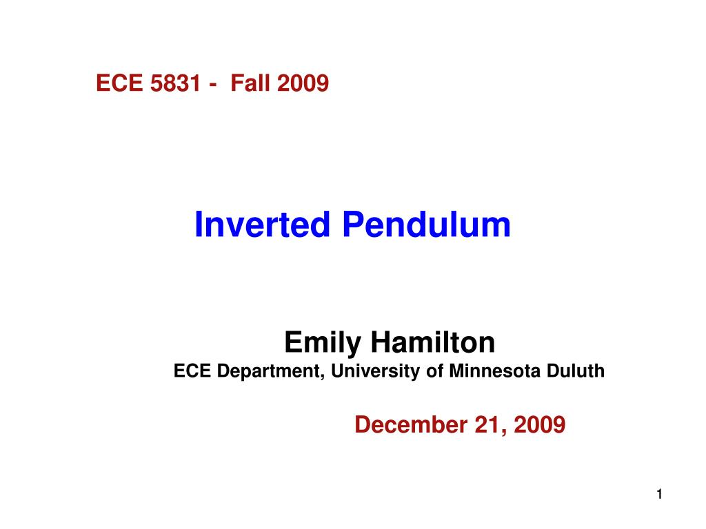 inverted pendulum l.
