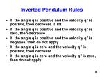 inverted pendulum rules