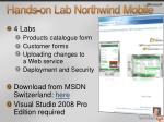 hands on lab northwind mobile