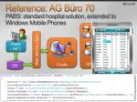 reference ag b ro 70 pabs standard hospital solution extended to windows mobile phones